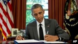Presiden Amerika Serikat, Barack Obama, di Gedung Putih (Foto: dok).