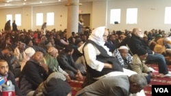 Worshippers at the West Columbus Abubakar Assidiq Islamic Center, Ohio, Friday, Dec 2, 2016.