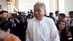 미얀마 민주주의민족동맹은 10일 하원에서 수치 여사의 측근인 틴 쩌 씨를 후보로 지명했다. (자료사진)