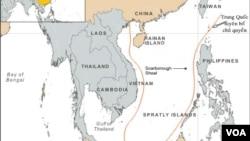 Bản đồ 'đường lưỡi bò' do Trung Quốc vẽ ra, đòi hỏi chủ quyền hầu hết toàn bộ Biển Đông.
