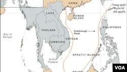 Trung Quốc vẽ đường 9 đoạn đứt khúc, thường được gọi là lưỡi bò, trên bản đồ, nhằm tìm cách tranh chủ quyền