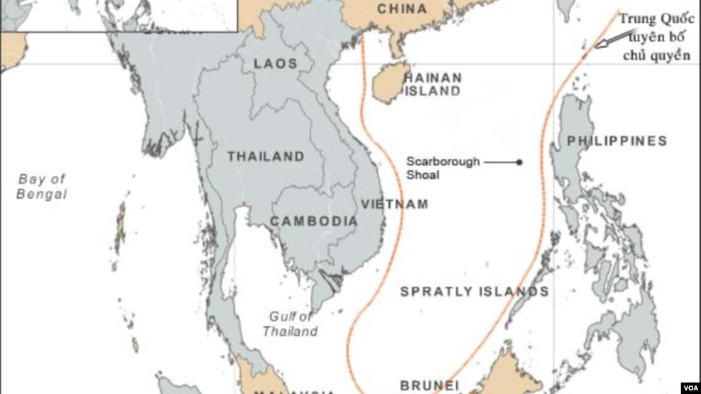 Đường 9 đoạn, còn gọi là đường lưỡi bò, của Trung Quốc ở Biển Đông.