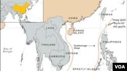 Bản đồ đường lưỡi bò do Trung Quốc vẽ, giành chủ quyền hầu như toàn bộ Biển Ðông.