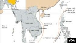 Bản đồ đường lưỡi bò do Trung Quốc vẽ, giành chủ quyền hầu như toàn bộ lãnh hải ở Biển Đông