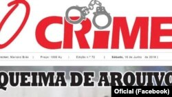 Capa do jornal O Crime