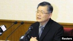 Hình ảnh mục sư Lim Hyeon-soo ở Bình Nhưỡng, Bắc Triều Tiên, được hãng thông tấn KCNA đưa lên hôm 30/7/2015.