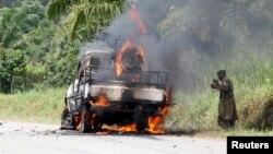 Sebuah rudal menghantam konvoi militer Kongo di Kivu utara yang juga menewaskan seorang komandan Angkatan Darat, Kamis (2/1).