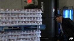 Le centre alimentaire de Second Harvest , qui distribue des vivres aux nécessiteux ici aux Etats-Unis