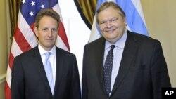 O κ. Βενιζέλος με τον αμερικανό ομόλογο του κ. Γκάιτνερ