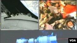 """中国""""神舟九号""""成功太空对接"""