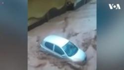 Lũ lụt nhấn chìm thị trấn Mandra của Hy Lạp