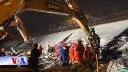 TQ: Sập cầu vượt, 3 người chết