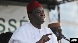 L'opposant malien Tiébilé Dramé, négociateur de l'accord de paix avec les groupes armés touaregs, à Bamako, 9 août 2013.