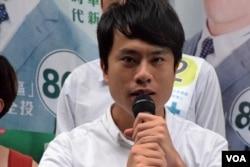 香港民主党立法会超级区议会候选人邝俊宇 (美国之音/汤惠芸)
