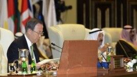 """Au Koweit, Ban Ki-moon a évoqué une situation """"catastrophique"""" en Syrie"""