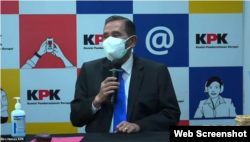 Ketua Majelis Etik Tumpak Hatorangan Panggabean. (Foto: VOA)