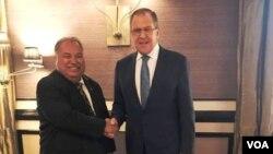 ნაურუს პრეზიდენტი და რუსეთის საგარეო მინისტრი სოჭში, 12.11.2017