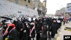 Єменські жінки вимагають відставки президента Алі Абдулли Салеха