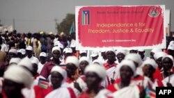 Những người Sudan tập dượt cho ngày lễ độc lập