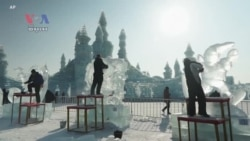 Artisans Create Fantastic Ice Sculptures in China