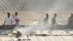 Bujumbura: le feu détruit un marché (vidéo)