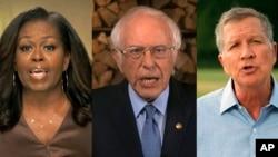 Madame Michelle Obama, Senateri Bernie Sanders na guverineri John Kasick, wahoze ayobora leta ya Ohio