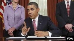 Barack Obama dijo que no se podía esperar por un proyecto similar aún pendiente en el Congreso.