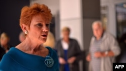 Pendiri Partai Satu Bangsa (One Nation) di Australia, politisi kontroversial Pauline Hanson. (Foto: Dok)