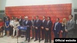 Zamjenik predsjednika Demokratske partije socijalista DPS Duško Marković predstavio je na konferenciji za medije listu za izbore u oktobru, koju predvodi predvodi premijer i predsjednik DPS-a Milo Đukanović. (foto crna.gora.me)