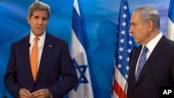 Ngoại trưởng Mỹ John Kerry gặp Thủ tướng Israel Benjamin Netanyahu tại Jerusalem ngày 24/11/2015.