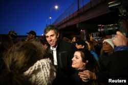 Beto O'Rourke, Democratic former Texas congressman, participates in an anti-Trump march in El Paso, Texas, Feb. 11, 2019.