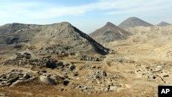 Lembah Mes Aynak, 40 kilometer barat daya Kabul, Afghanistan kaya akan bahan-bahan mineral (foto: dok).
