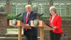 川普與英國首相特蕾莎梅在移民問題上有分歧 (粵語)