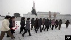 지난 21일 북한 평양의 만수대 언덕.