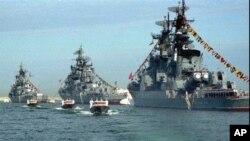Боевые корабли ВМФ России (архивное фото)
