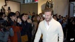 David Beckham akan menerima penghargaan UEFA karena telah bermain 115 kali bagi Inggris (foto: Dok.).