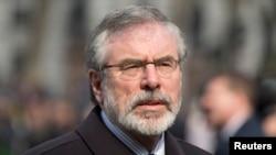 Pemimpin Partai Sinn Fein di Irlandia Utara, Gerry Adams (foto: dok).