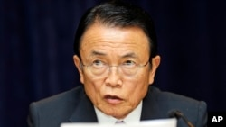 Taro Aso, deputy Prime Minister of Japan, April 19, 2013.
