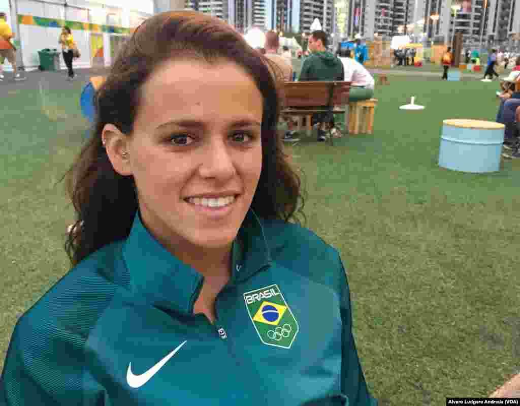 Maria Bruno, atleta de natação sincronizada. Jogos Olímpicos Rio 2016. Brasil
