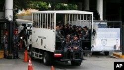 25일 유치장 폭동이 일어난 베네수엘라에 삼엄한 경비가 이어지고 있다