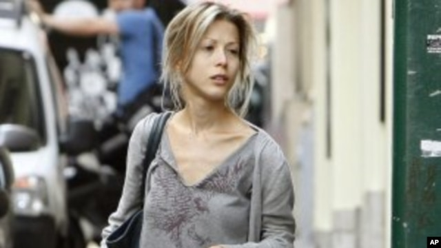 Tristane Banon leaves her lawyer's office in Paris (File Photo - July 5, 2011)