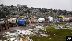 Idlibdan qochayotgan aholi, 13-fevral, 2020-yil