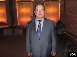 莫斯科布里亞特文化協會領導人杜加羅夫(美國之音白樺拍攝)