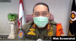 Kepala Satuan Polisi Pamong Praja (Satpol PP) Provinsi DKI Jakarta, Arifin. (Foto: screenshot)