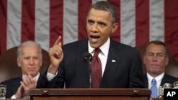 奧巴馬在年度國情咨文中講話