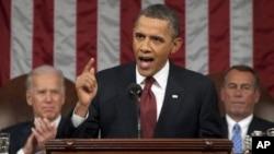 آرشیف: رئیس جمهور اوباما حین ایراد بیانیۀ سالانه