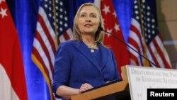 US Secretary of State Hillary Clinton speaks in Singapore November 17, 2012.