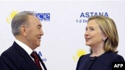 Нурсултан Назарбаев и Хиллари Клинтон