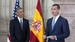 باراک اوباما با پادشاه اسپانیا دیدار کرد