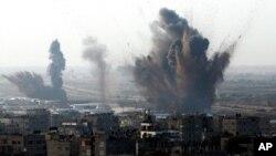 Israel tấn công đường hầm vận chuyễn hàng lậu ở biên giới Ai Cập và Rafah, miền nam Dải Gaza, 19/11/12